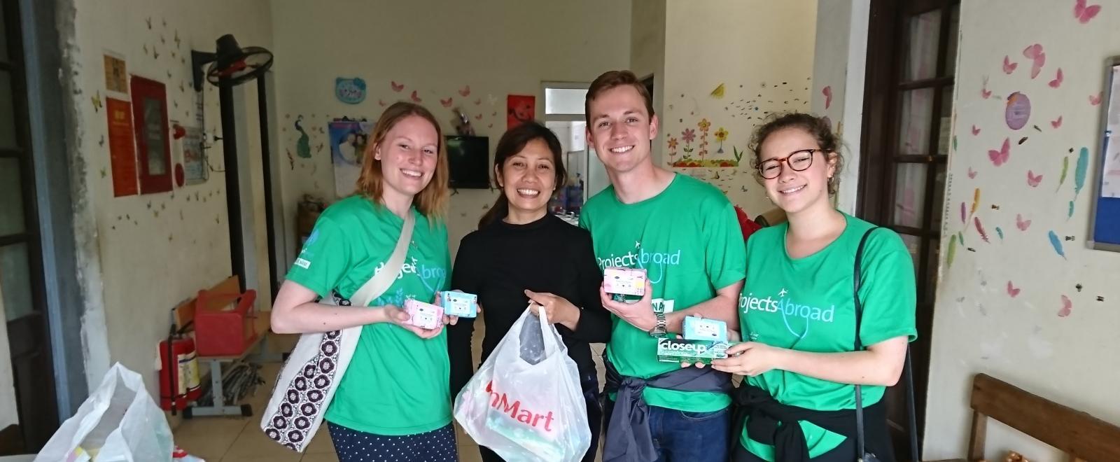 Josie with the other Teaching volunteers in Vietnam